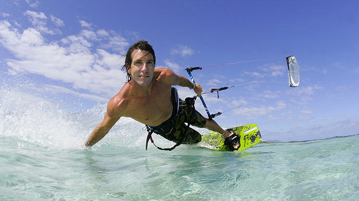 Bill Kraft, owner of kite st croix, kitesurfing in the virgin islands