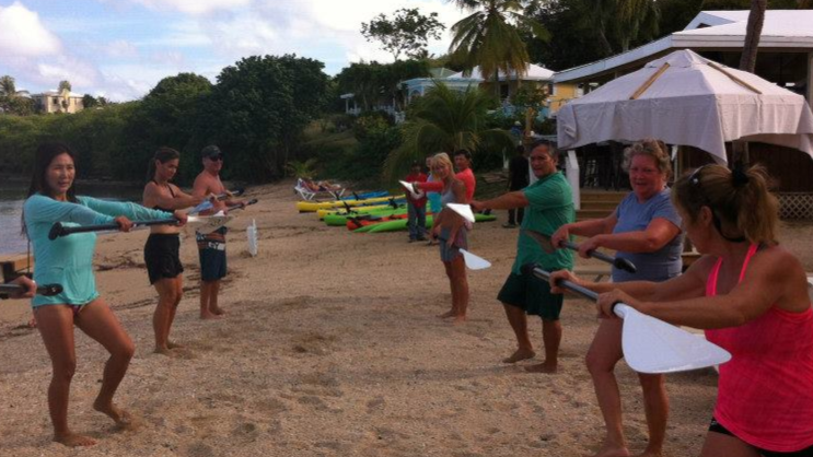 st croix fitness class, done mostly on paddleboards