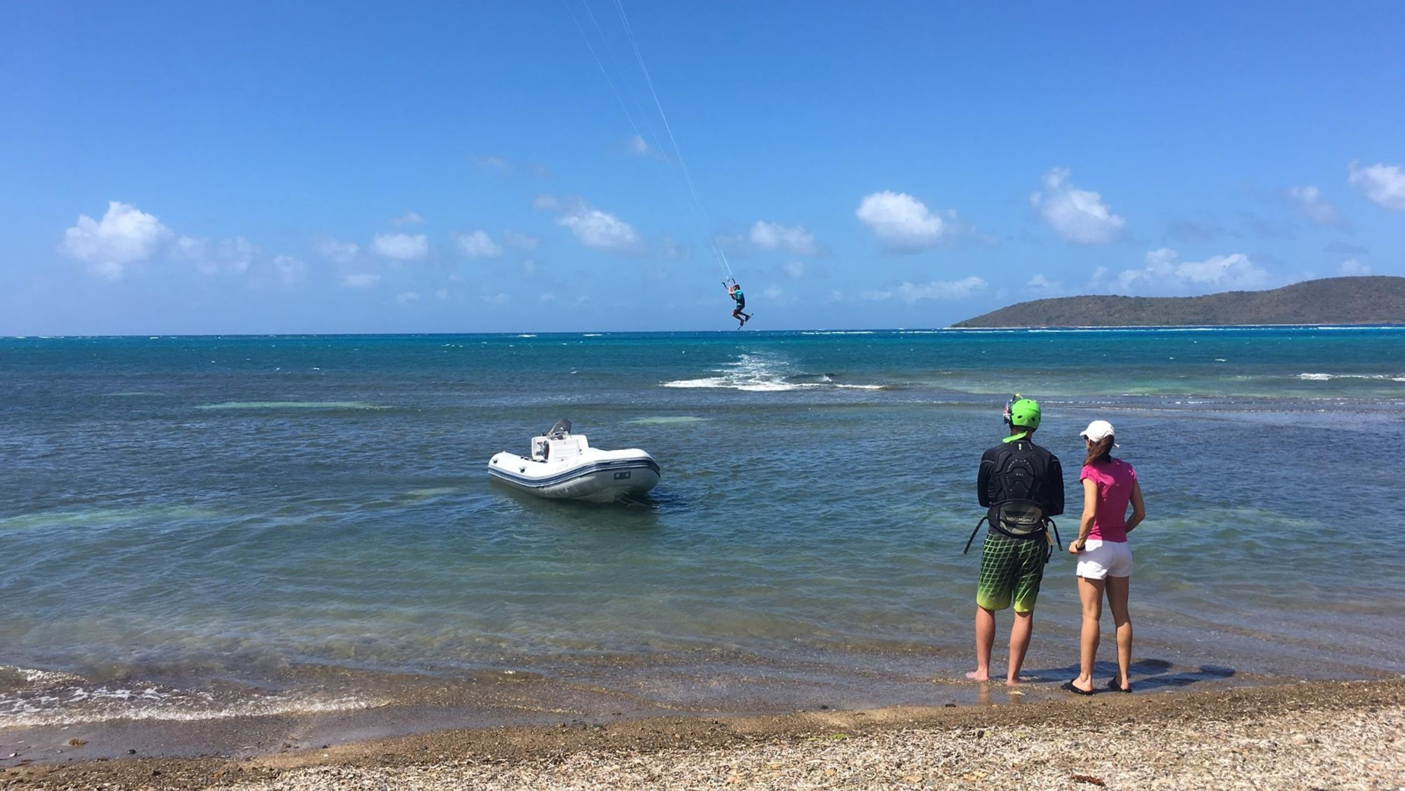 Kitesurf instruction in the Virign Islands
